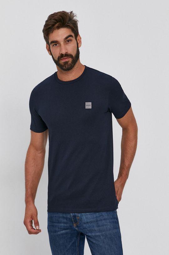 granatowy Boss - T-shirt bawełniany