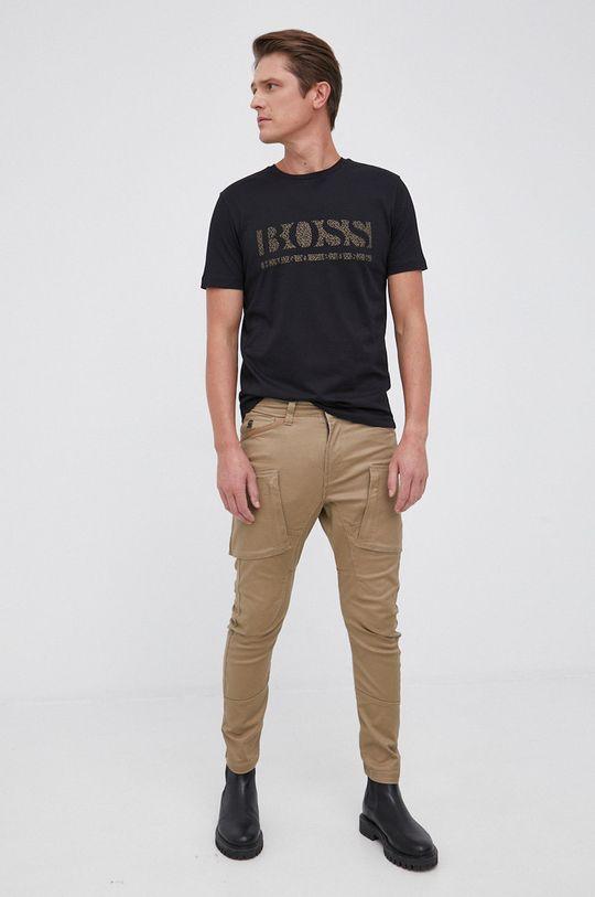Boss - T-shirt bawełniany czarny
