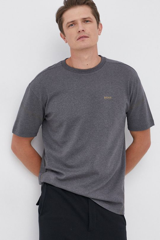 Boss - T-shirt bawełniany szary