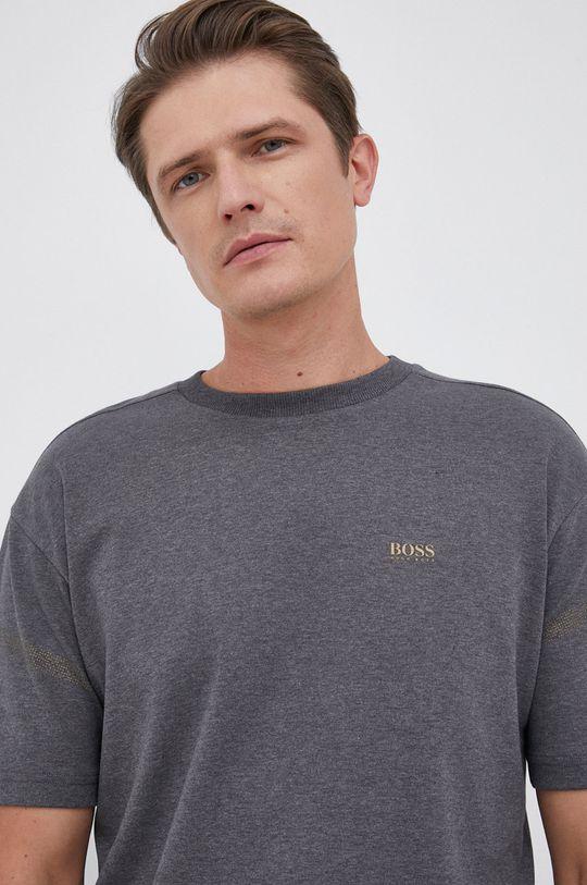 szary Boss - T-shirt bawełniany