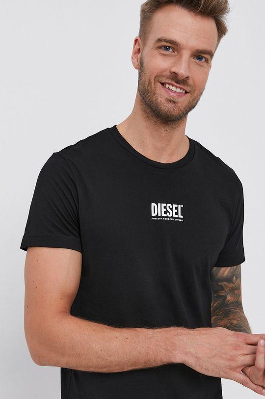 čierna Diesel - Bavlnené tričko