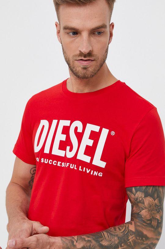 červená Diesel - Bavlněné tričko Pánský