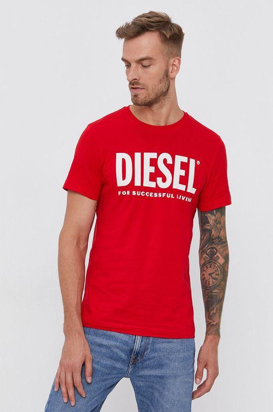 červená Diesel - Bavlněné tričko