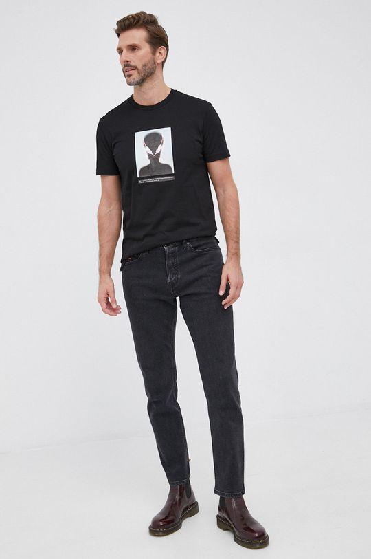 czarny Diesel - T-shirt bawełniany Męski