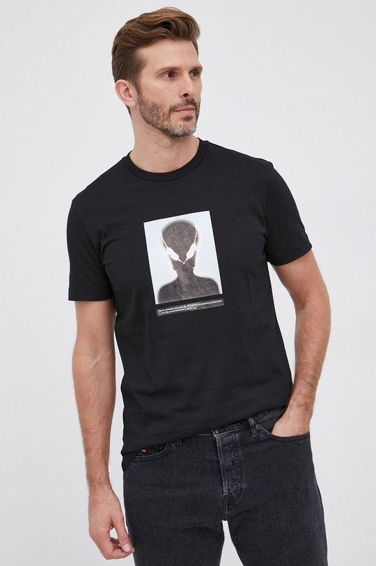 Diesel - T-shirt bawełniany czarny
