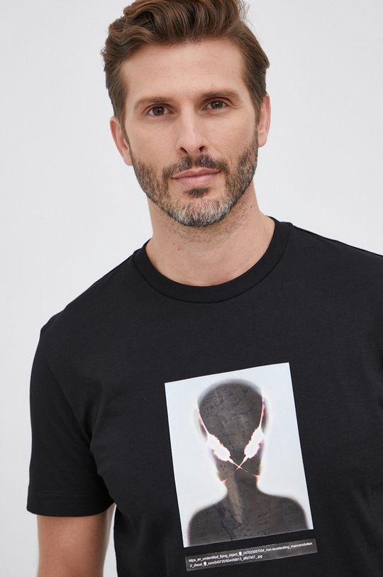 czarny Diesel - T-shirt bawełniany
