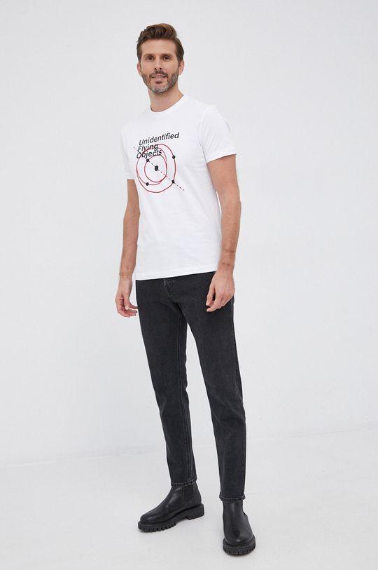 Diesel - T-shirt bawełniany biały