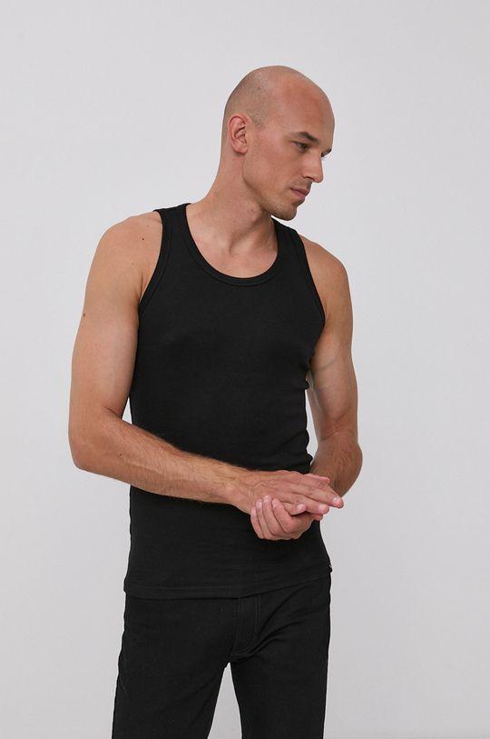 czarny Puma - T-shirt bawełniany (2-pack) Męski