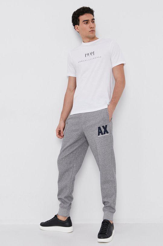 Armani Exchange - Bavlnené tričko biela