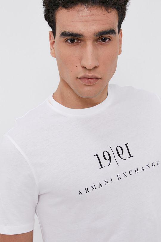 biela Armani Exchange - Bavlnené tričko