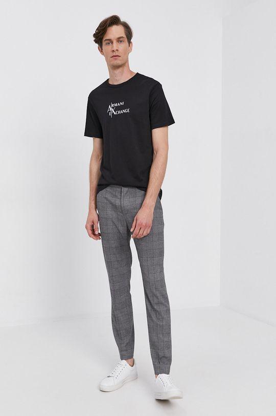 Armani Exchange - Bavlněné tričko černá