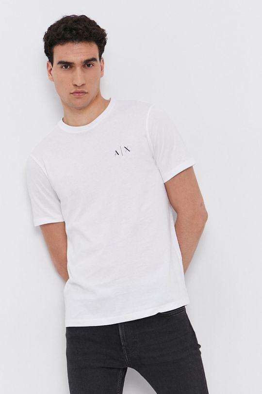 Armani Exchange - T-shirt bawełniany biały