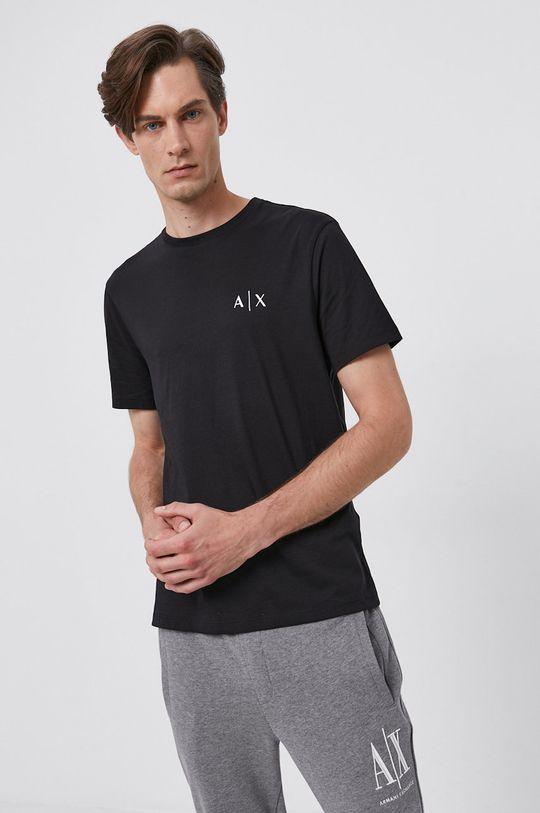 Armani Exchange - T-shirt bawełniany 100 % Bawełna