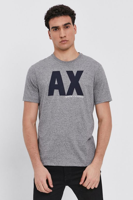szary Armani Exchange - T-shirt Męski