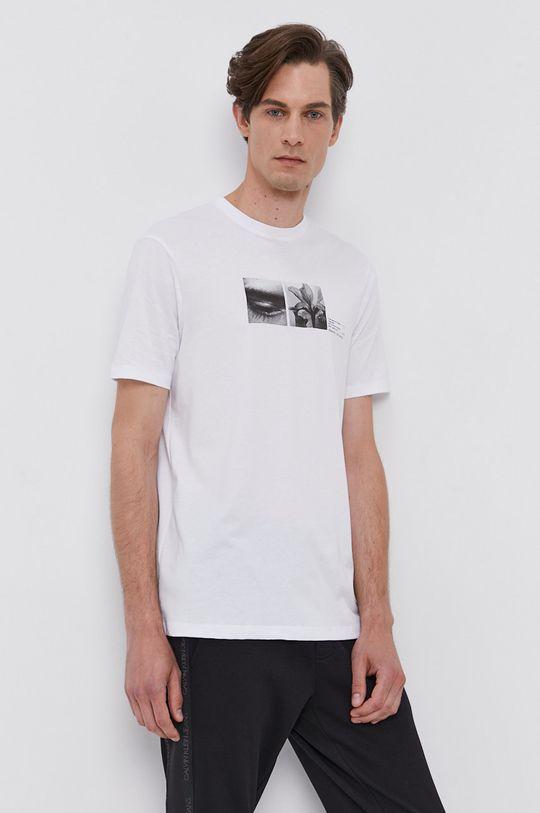 biały Armani Exchange - T-shirt bawełniany
