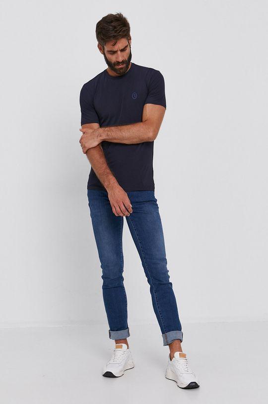 Trussardi - Tričko námořnická modř