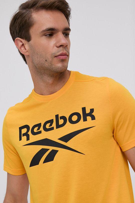 żółty Reebok - T-shirt Męski