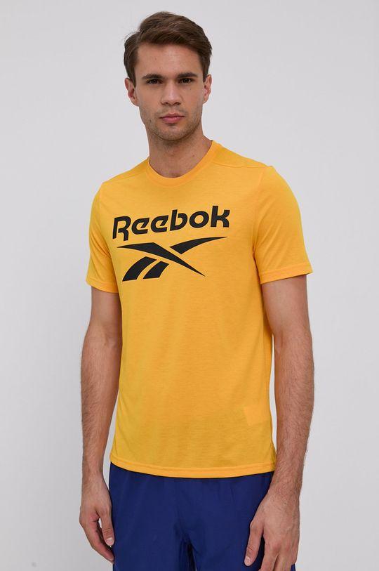 Reebok - T-shirt żółty