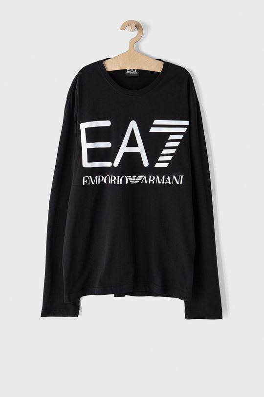 černá EA7 Emporio Armani - Tričko s dlouhým rukávem Pánský