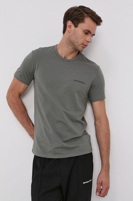 czarny Emporio Armani Underwear - T-shirt (2-pack) Męski
