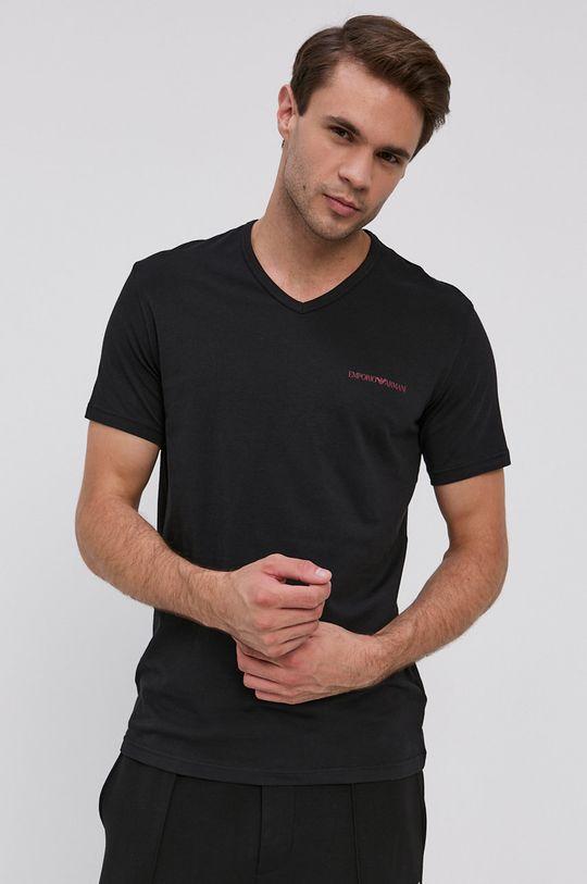 kaštanová Emporio Armani Underwear - Tričko (2-pack) Pánský