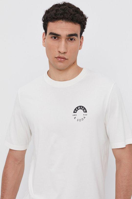 krémová Scotch & Soda - Bavlnené tričko Pánsky