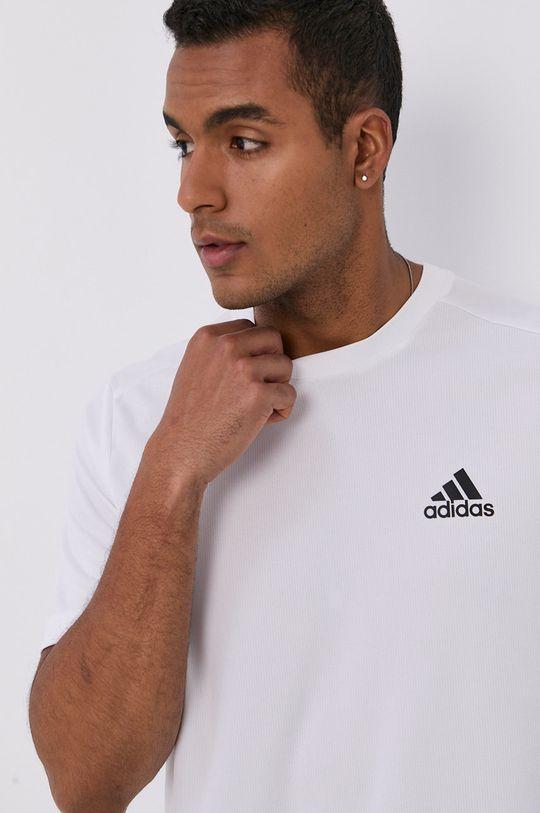 bílá adidas - Tričko Pánský