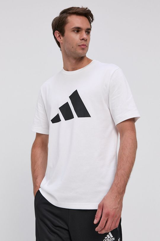 bílá adidas Performance - Tričko Pánský