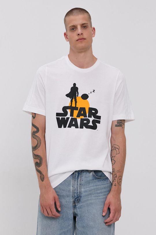 biały adidas - T-shirt bawełniany x Star Wars Męski