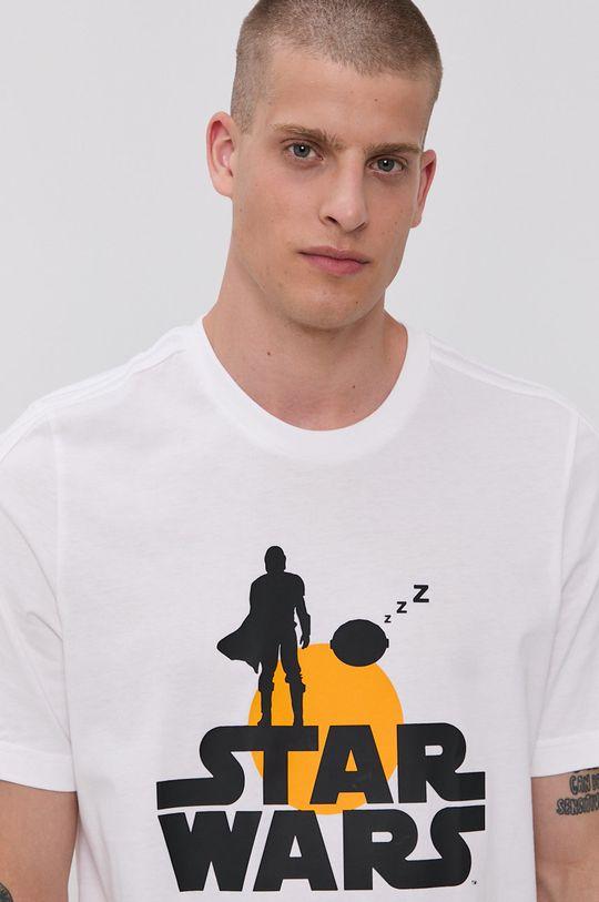 biały adidas - T-shirt bawełniany x Star Wars
