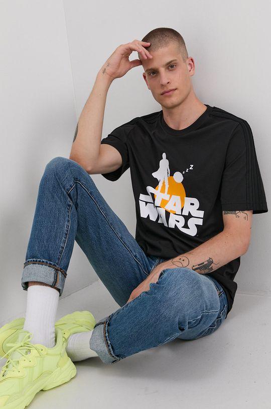 czarny adidas - T-shirt bawełniany x Star Wars Męski