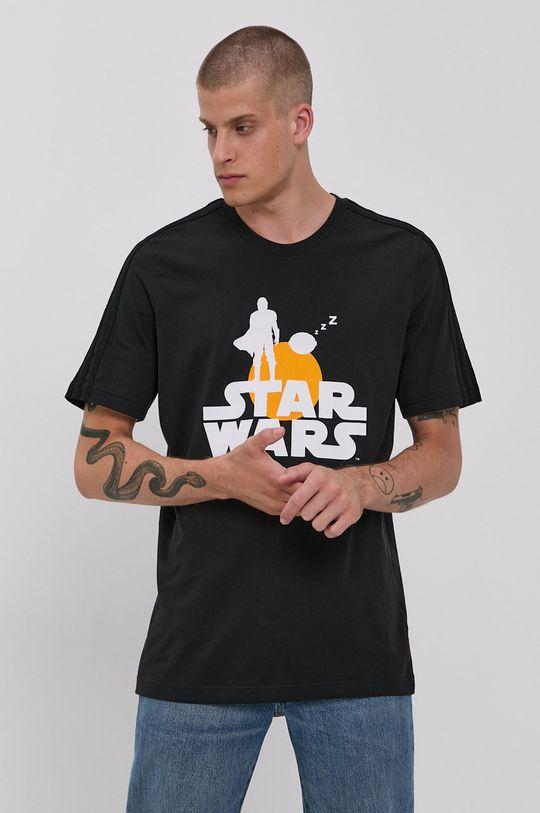 czarny adidas - T-shirt bawełniany x Star Wars