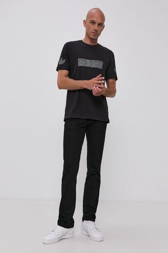 adidas Originals - T-shirt bawełniany czarny