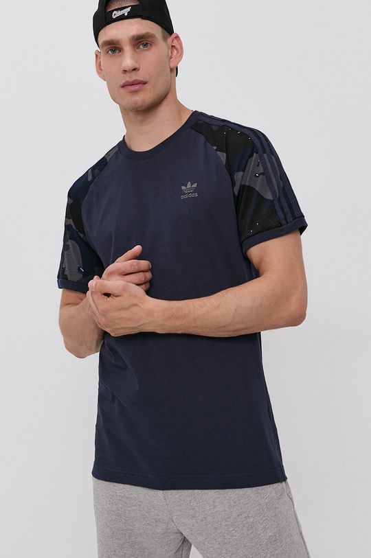 tmavomodrá adidas Originals - Bavlnené tričko Pánsky