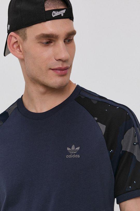 tmavomodrá adidas Originals - Bavlnené tričko