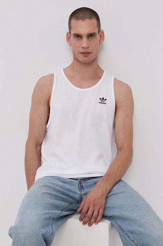 biały adidas Originals - T-shirt bawełniany Męski