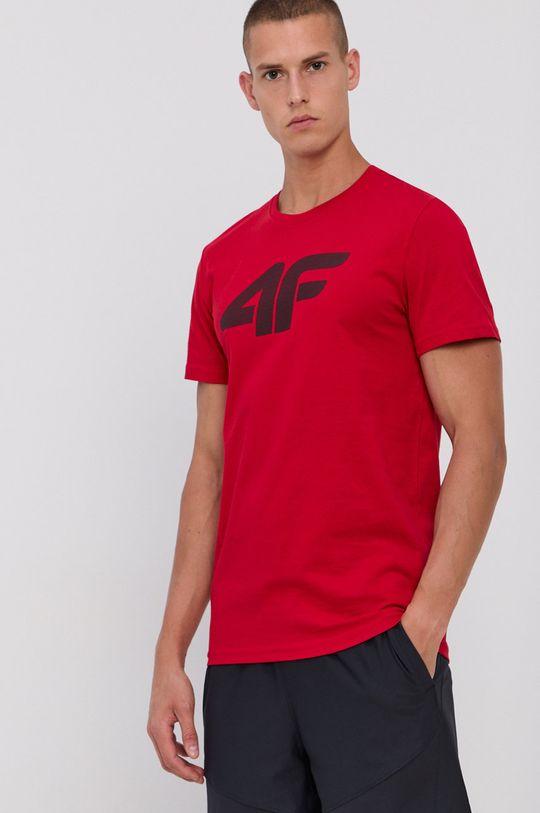 czerwony 4F - T-shirt bawełniany Męski