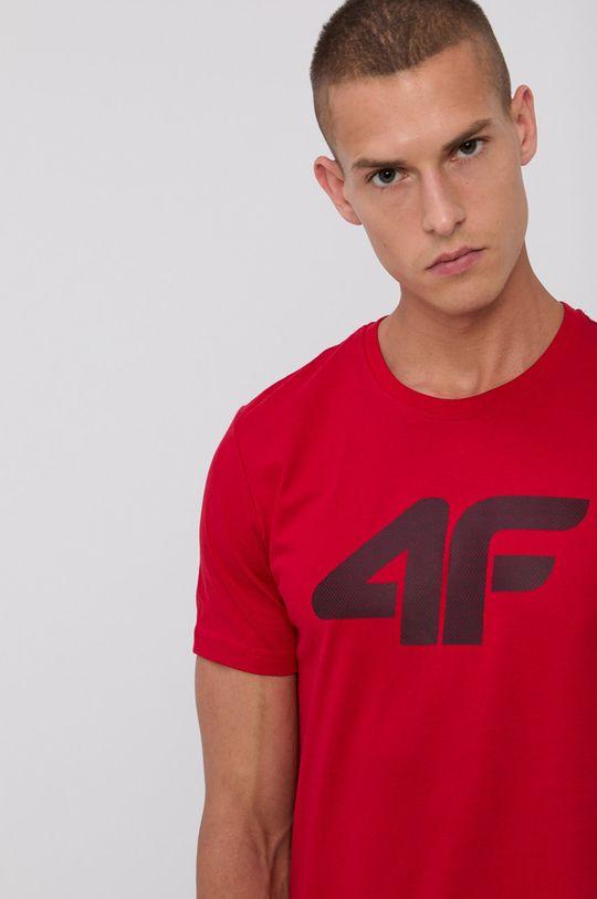 czerwony 4F - T-shirt bawełniany