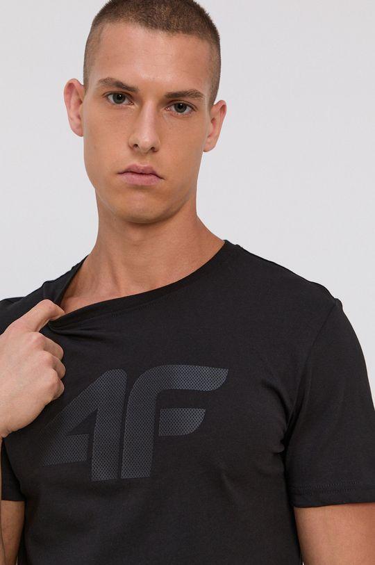 čierna 4F - Bavlnené tričko