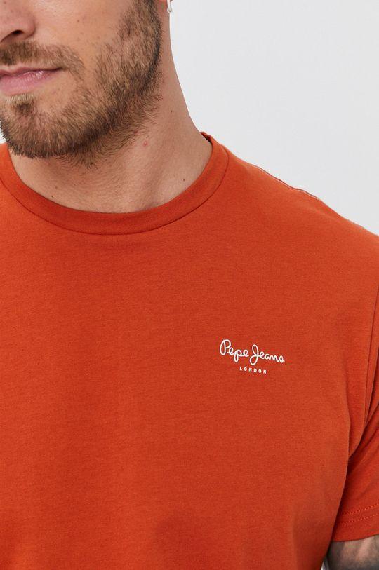Pepe Jeans - T-shirt bawełniany Derek Męski
