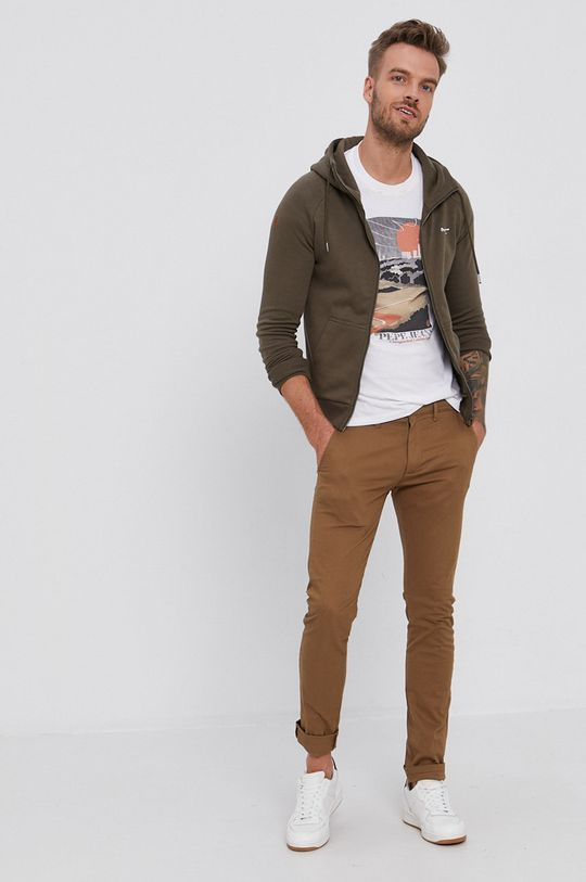 Pepe Jeans - Bavlnené tričko Wayne biela