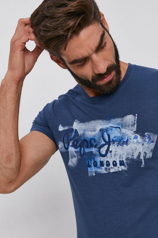 tmavomodrá Pepe Jeans - Bavlnené tričko Golders
