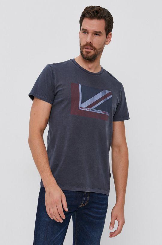 Pepe Jeans - Tricou din bumbac Ramone bleumarin