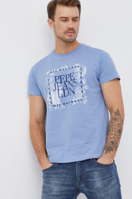 světle modrá Pepe Jeans - Bavlněné tričko Steve