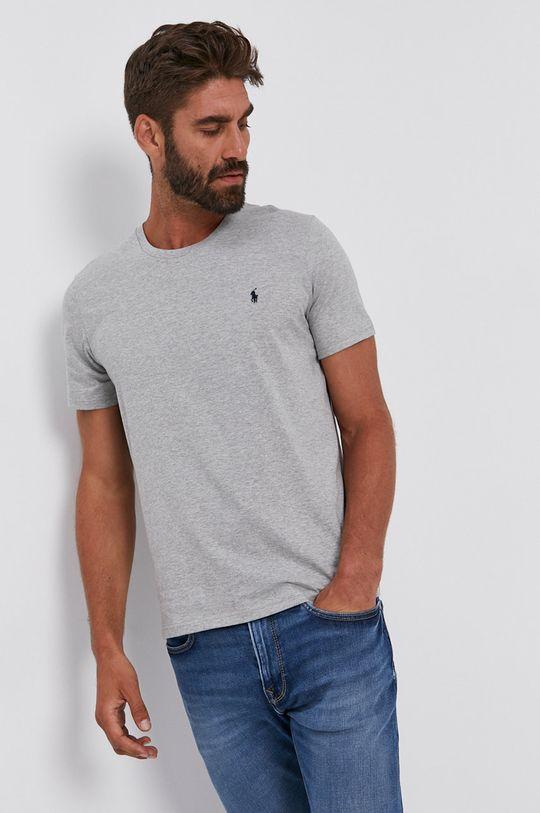 szary Polo Ralph Lauren - T-shirt bawełniany Męski