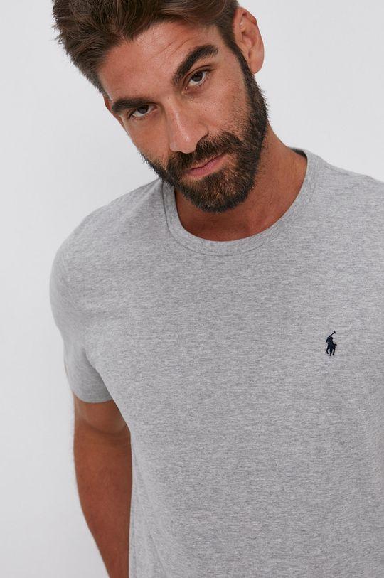 szary Polo Ralph Lauren - T-shirt bawełniany