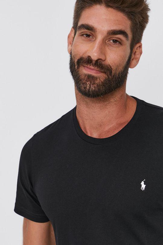 czarny Polo Ralph Lauren - T-shirt bawełniany Męski