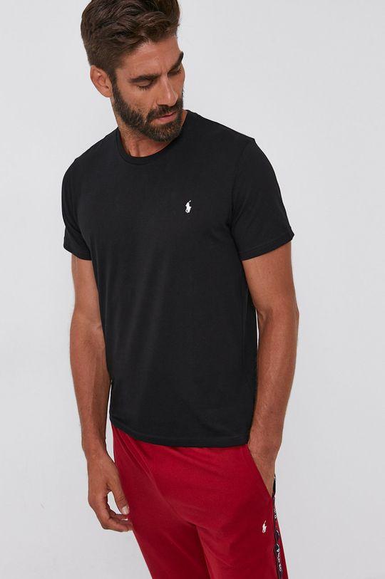 czarny Polo Ralph Lauren - T-shirt bawełniany