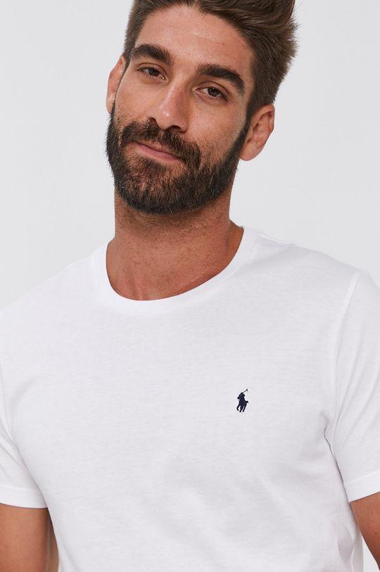 bílá Polo Ralph Lauren - Bavlněné tričko Pánský