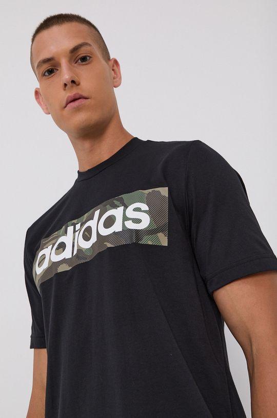 negru adidas - Tricou De bărbați